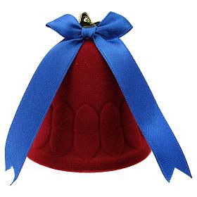 Cofre campana terciopelo rojo con natividad s3