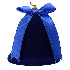 Cofanetto campana con natività velluto blu s3