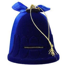 Cofanetto campana con natività velluto blu s4