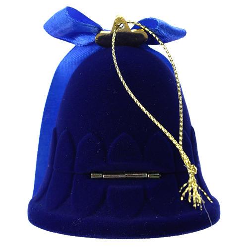 Cofanetto campana con natività velluto blu 4