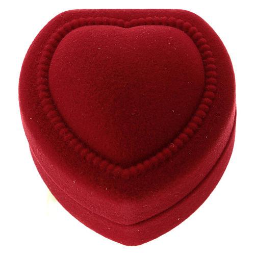 Cofre corazoncito con natividad terciopelo rojo 3