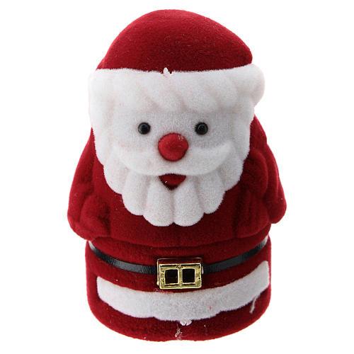 Cofre Papá Noel con natividad terciopelo 3