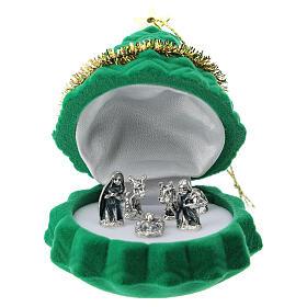 Christmas tree shaped velvet case with Nativity s1