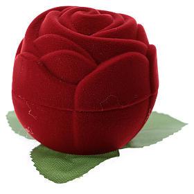 Cofanetto rosa rossa con natività velluto s3