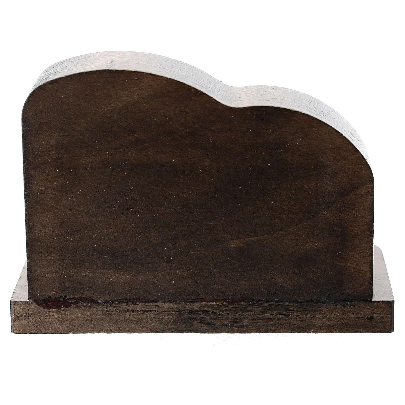 Natività metallo e capanna legno frastagliato 5 cm 3