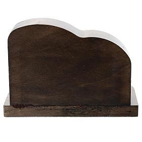 Natività metallo e capanna legno frastagliato 5 cm s3