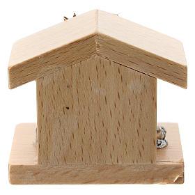 Nativité métal et cabane bois de poirier 5 cm s3