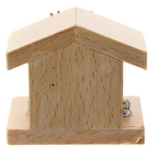 Natività metallo e capanna legno di pero 5 cm 3