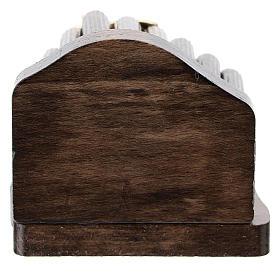 Nativité métal et cabane bois en rondins 5 cm s3