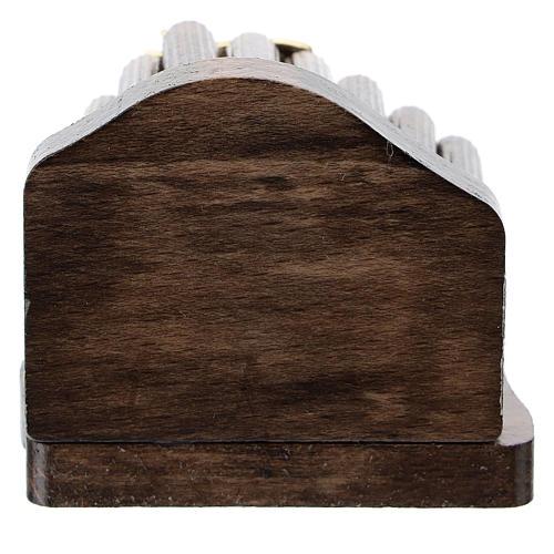 Natività metallo e capanna legno a pioli 5 cm 3
