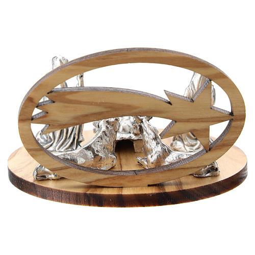 Natividad metal con cometa olivo estilizada 5 cm 3