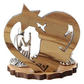 Natividad metal ángel y estrella madera 5 cm s3