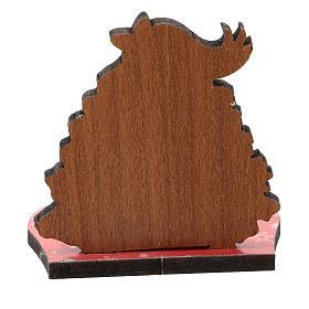Natividad con árbol de Navidad madera impresa 5 cm s3