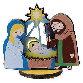 Nativity printed on wood 5 cm s1