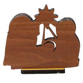 Nativity printed on wood 5 cm s3