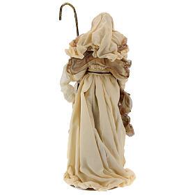 Natividade 3 peças bege e ouro resina tecido 80 cm s13