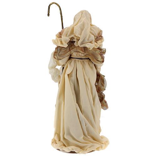 Natividade 3 peças bege e ouro resina tecido 80 cm 13