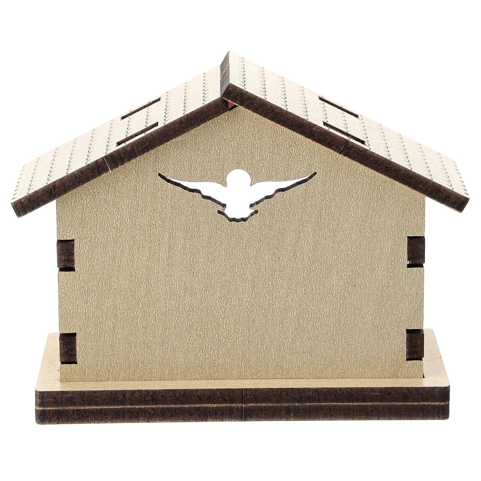 Cabana madeira fundo Sagrada Família 5 cm 3