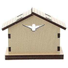 Cabana madeira fundo Sagrada Família 5 cm s3