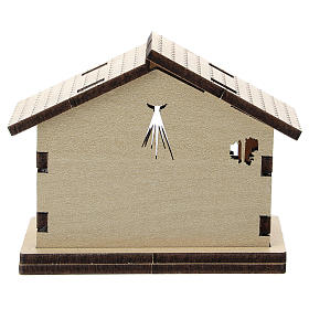Sagrada Familia impresa con fondo casita madera s3