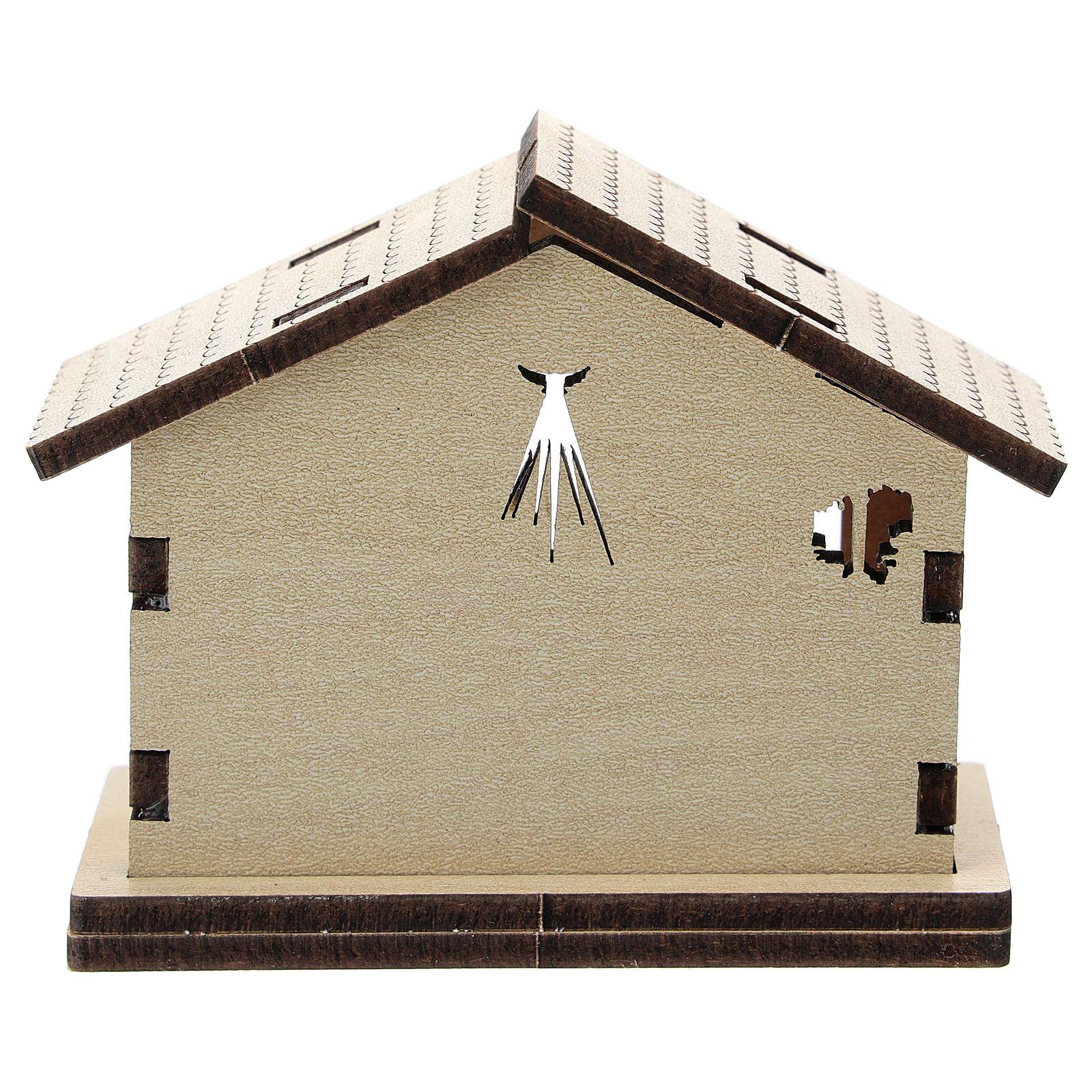 Sainte Famille imprimée sur fond maison bois 3