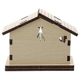 Sacra Famiglia stampata su sfondo casetta legno s3