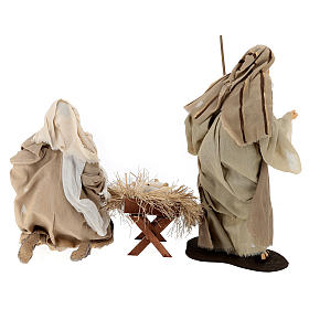 STOCK Natività natural set 3 pezzi resina 50 cm s5