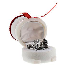 Cofre muñeco de nieve terciopelo con natividad s3