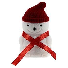 Cofre muñeco de nieve terciopelo con natividad s4