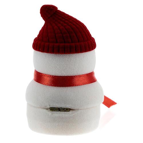 Cofre muñeco de nieve terciopelo con natividad 5