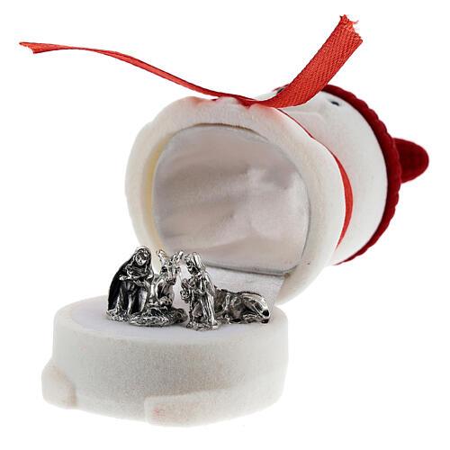 Cofanetto pupazzo di neve velluto con natività 2