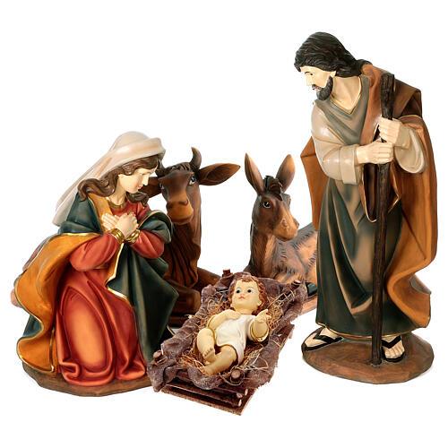 STOCK Scena Narodzin z żywicy malowana, 100 cm, 5 części 1