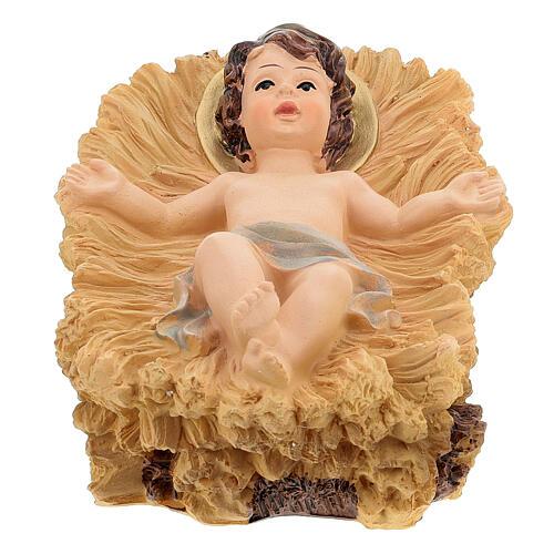 Nativité 50 cm crèche résine colorée set 5 pcs 2