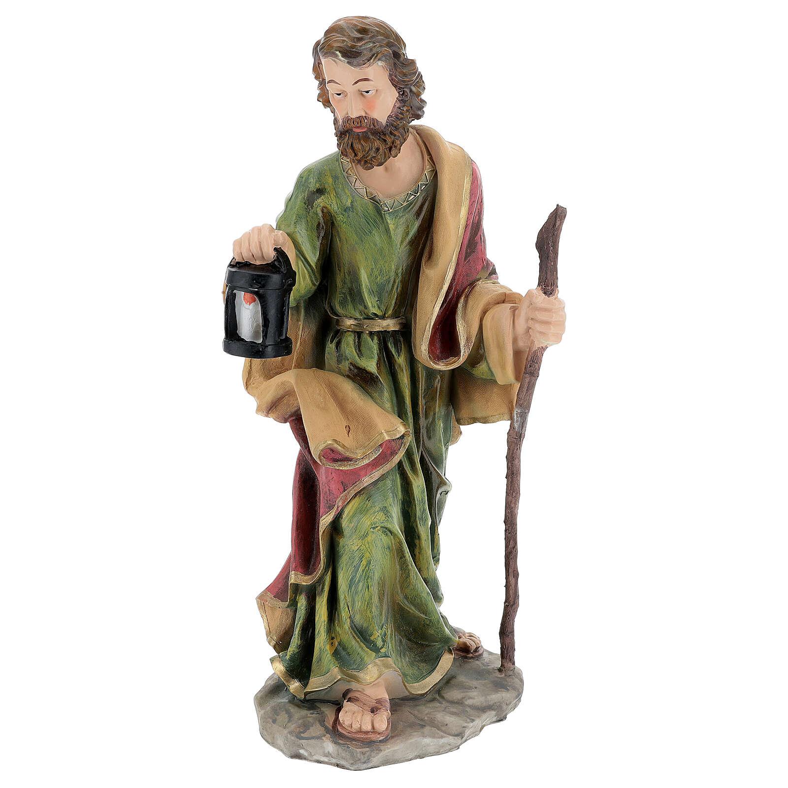 Holy Family nativity set 50 cm colored resin 5 pcs 3
