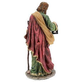 Holy Family nativity set 50 cm colored resin 5 pcs s8