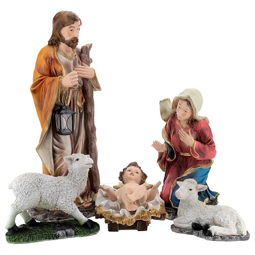 STOCK Narodziny Jezusa 5 części z żywicy malowanej 85 cm 1