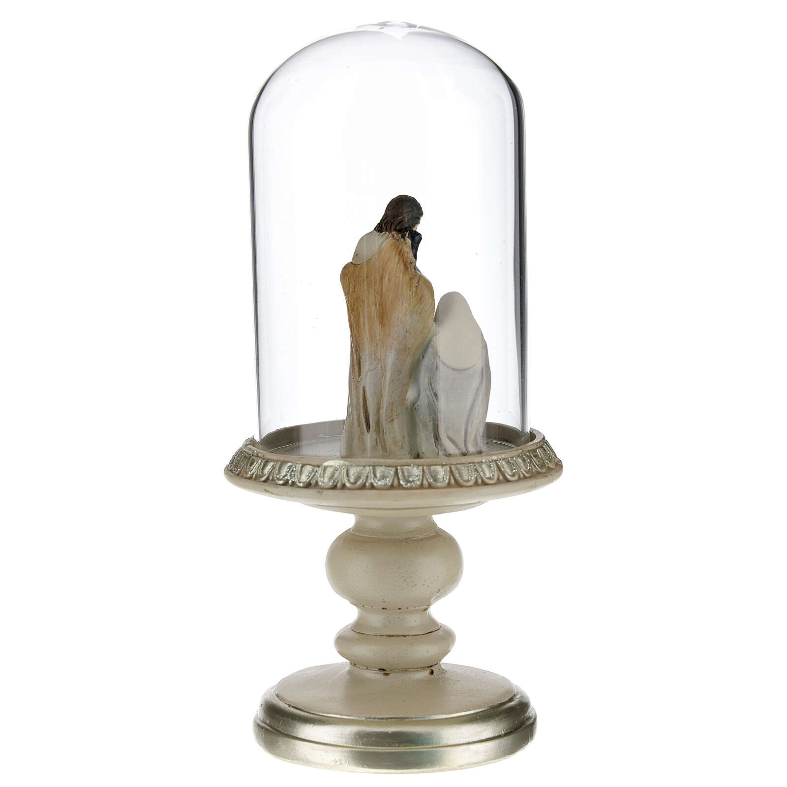 Holy Family statue in glass dome 21 cm 3
