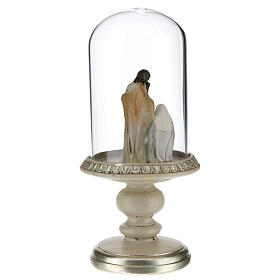 Holy Family statue in glass dome 21 cm s3