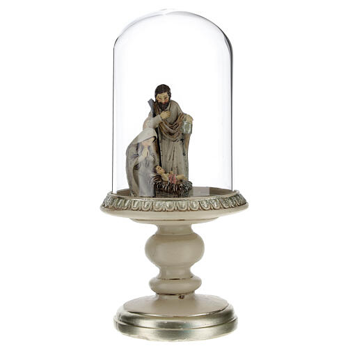 Holy Family statue in glass dome 21 cm 1