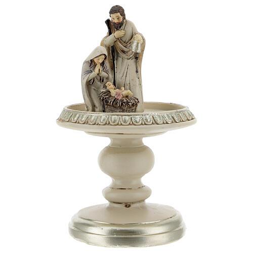 Natività in resina in campana vetro 21 cm 2