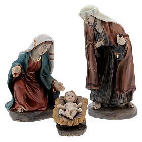 Holy Family set 6 pcs in resin 12 cm s2