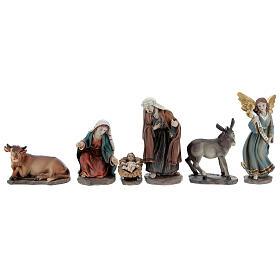 Holy Family set 6 pcs in resin 12 cm s5