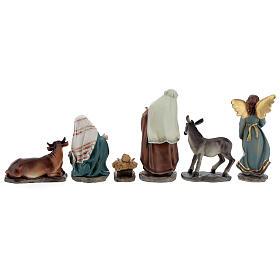 Holy Family set 6 pcs in resin 12 cm s6