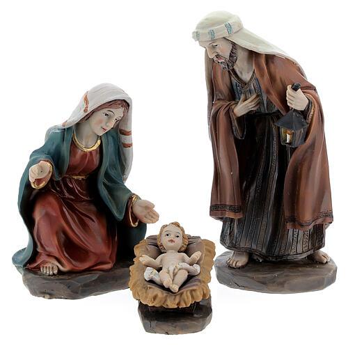 Holy Family set 6 pcs in resin 12 cm 2