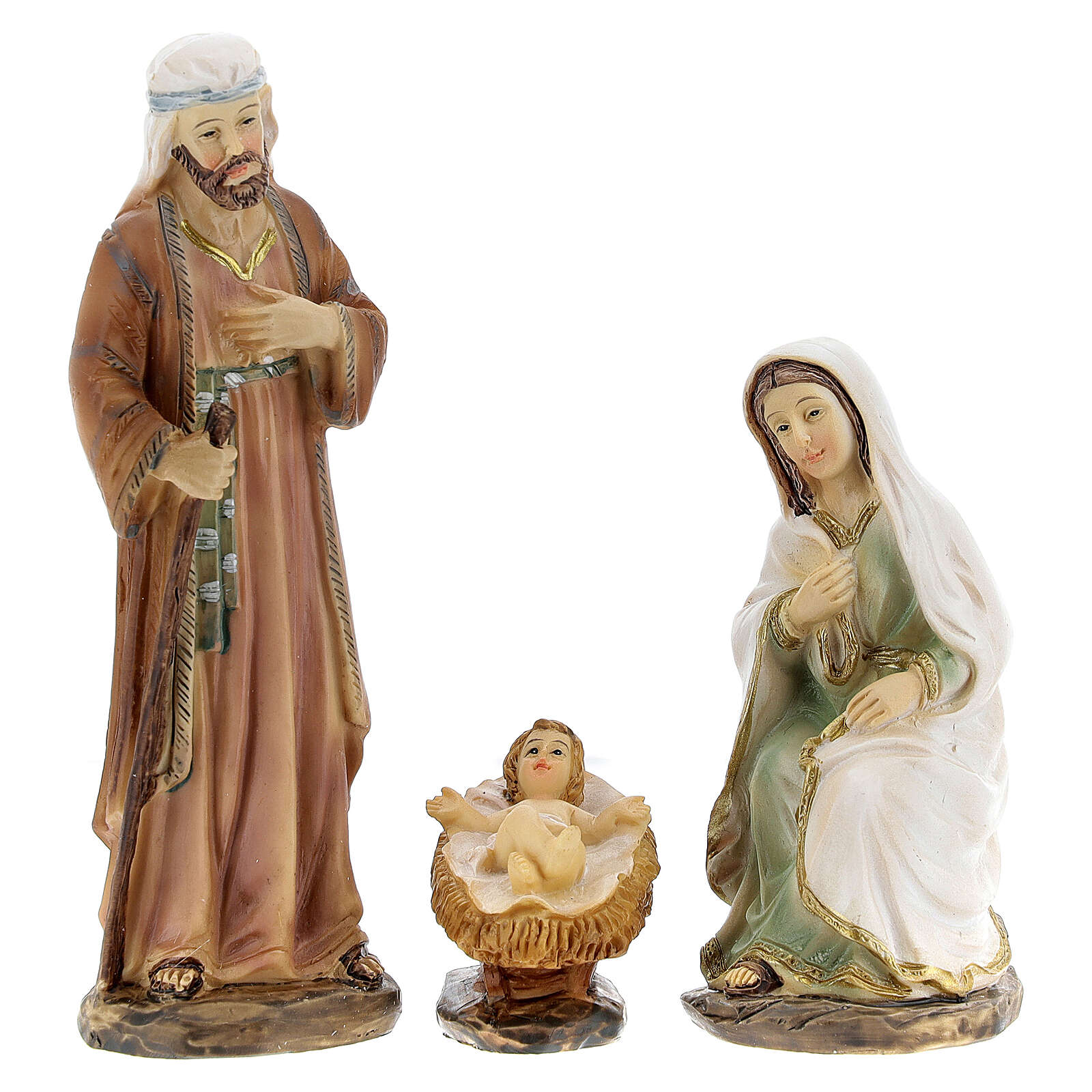Holy Family statues 6 pcs 12 cm 3