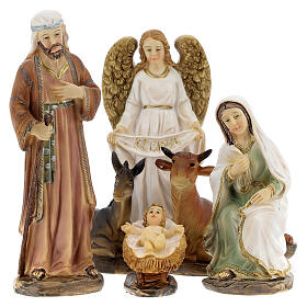 Holy Family statues 6 pcs 12 cm s1