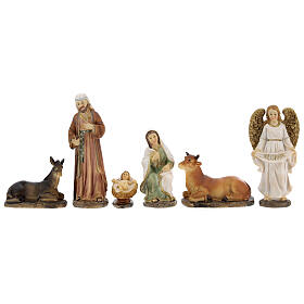Holy Family statues 6 pcs 12 cm s5