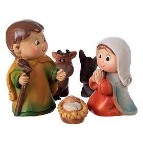 Nativity set for kids 5 pcs line resin 4 cm s2