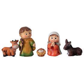Nativity set for kids 5 pcs line resin 4 cm s4
