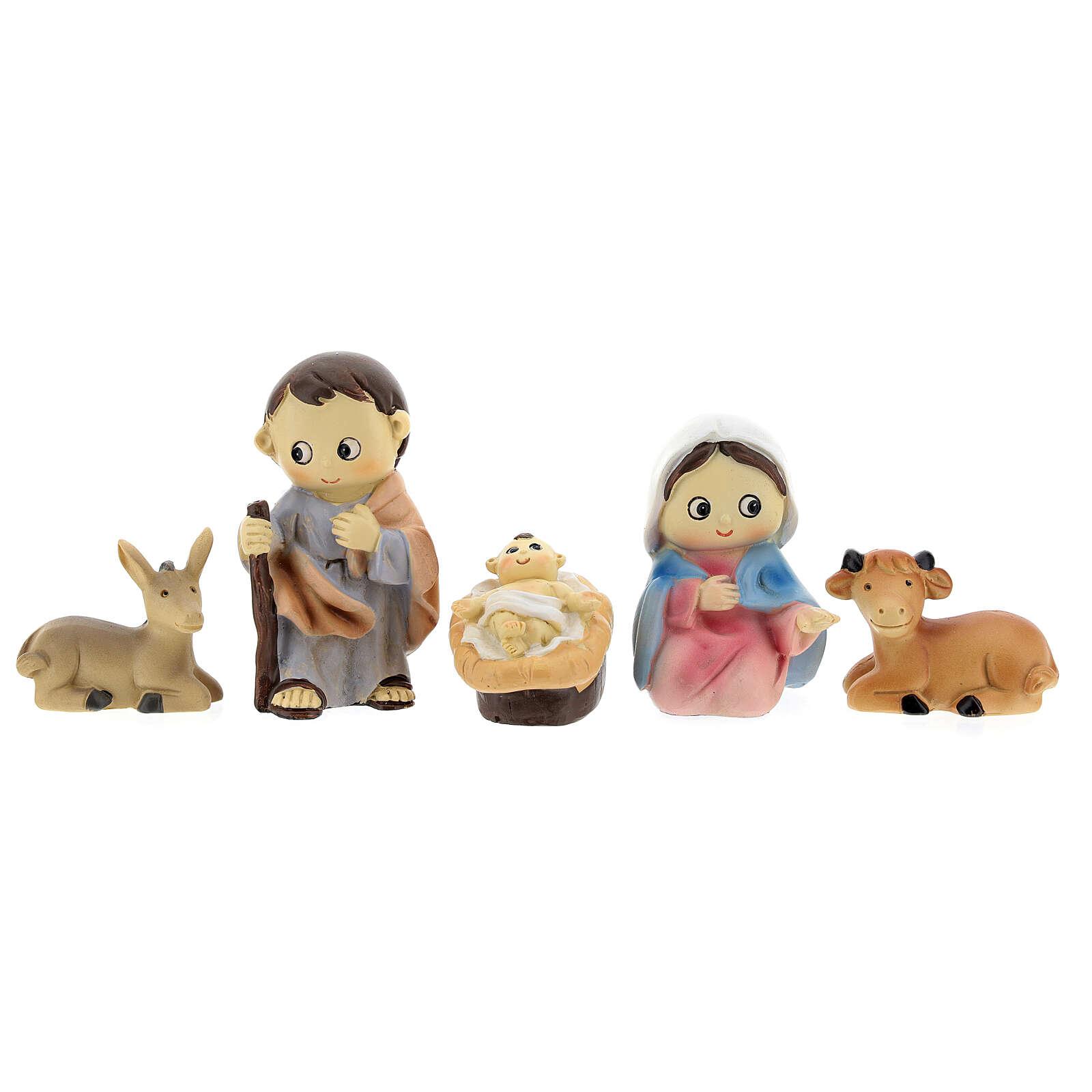 Kids nativity set 5 pcs 10 cm 3